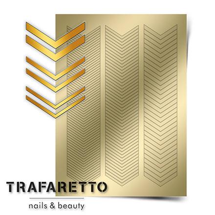 Купить Trafaretto, Металлизированные наклейки GM-07, золото