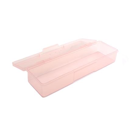 TNL, Пластиковый контейнер прямоугольный, прозрачно-розовый