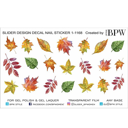 Купить BPW.Style, Слайдер-дизайн «Осенние листья» №1-1168w
