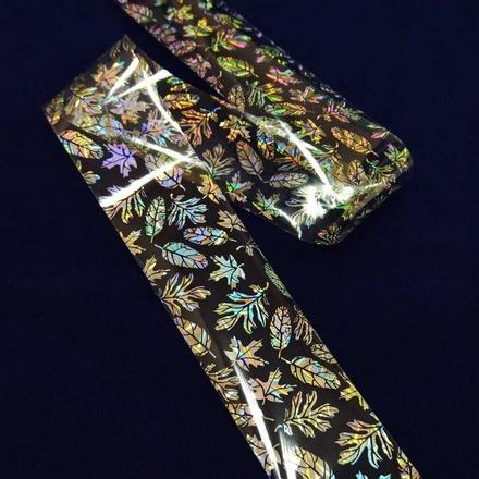 Купить De.Lux, Фольга переводная голографическая «Листья»