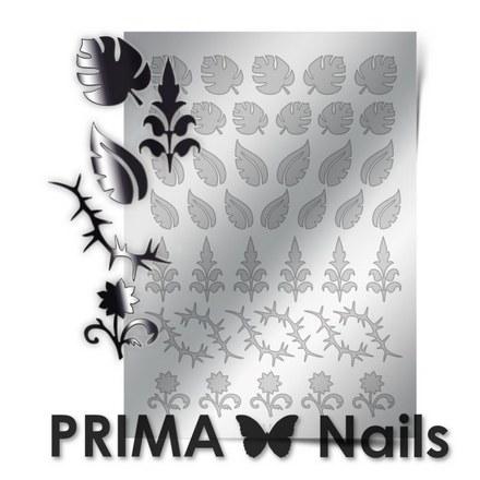 Prima Nails, Металлизированные наклейки FL-03, серебро