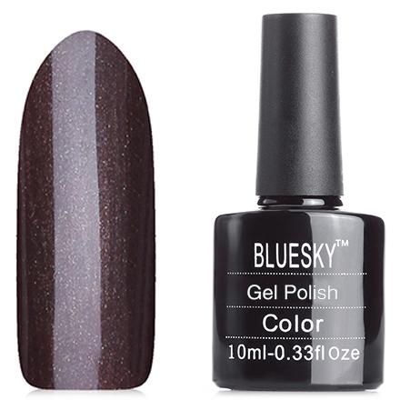 Bluesky, Гель-лак №80556 Night GlimmerBluesky Шеллак<br>Гель-лак (10 мл) холодный коричневый, перламутровый, плотный.