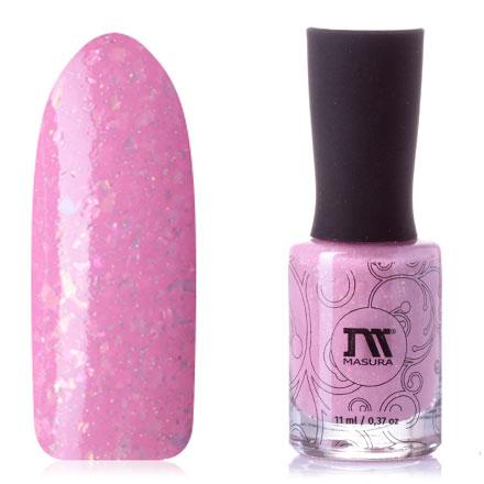 Купить Masura, Лак для ногтей «Сладкая вата», Розовый