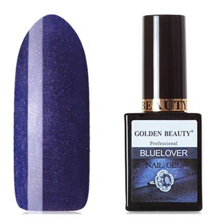Bluesky, Гель-лак Golden Beauty Bluelover №01Bluesky Шеллак<br>Гель-лак (14 мл) цвета индиго, с лиловыми микроблестками, плотный.<br><br>Цвет: Фиолетовый<br>Объем мл: 14.00