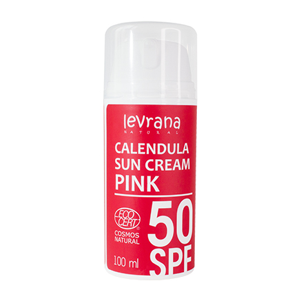 Levrana, Солнцезащитный крем «Календула» 50 SPF Pink, 100 мл