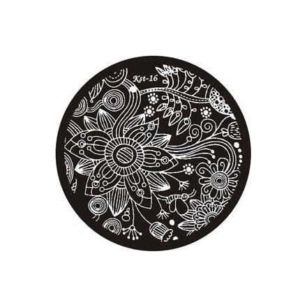 El Corazon, диск для стемпинга Kst-16 Kaleidoscope