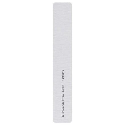 Купить Staleks Pro, Пилка прямая минеральная для ногтей Expert, широкая, 180/240