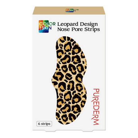 Купить Purederm, Полоски для носа Color Skin Leopard, 6 шт.
