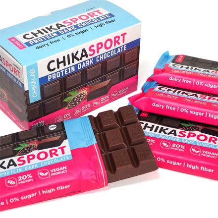 Chikalab, Темный шоколад ChikaSport, 4x100 г