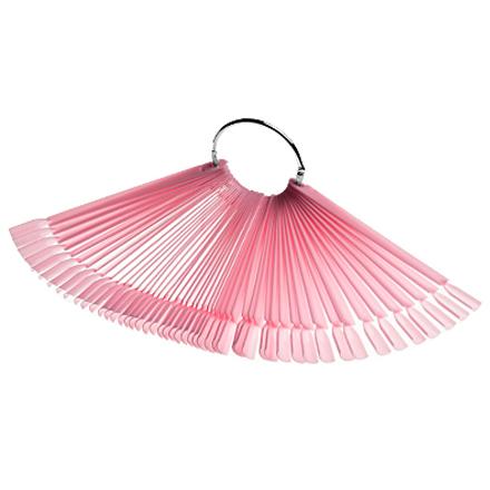 Irisk, Дисплей «Веер» на кольце, розовый, 50 шт.Палитры для лаков для ногтей<br>Удобная палитра для наглядной демонстрации цветных покрытий.<br>