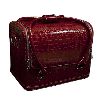 Planet Nails Сумка-чемодан красная Crocodile