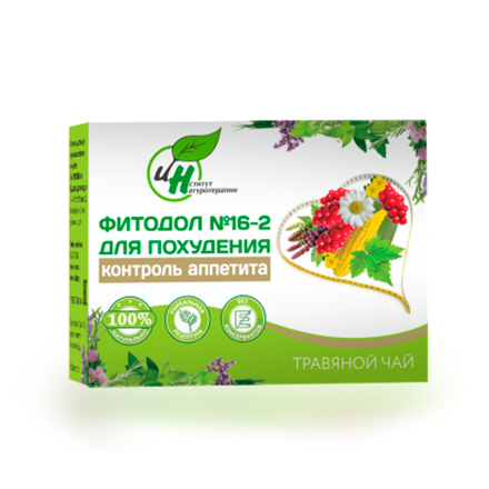 Институт Натуротерапии, Травяной чай «Фитодол» № 16-2, 60х2 г