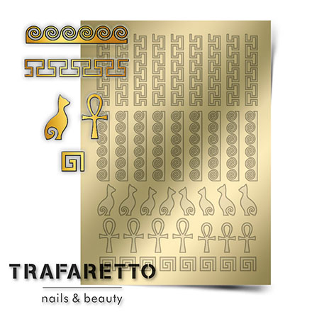 Купить Trafaretto, Металлизированные наклейки OR-02, золото