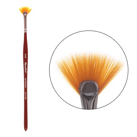 Roubloff, Кисть синтетическая веер №00 roubloff кисть для дизайна плоская из волоса колонка 3 dк23r