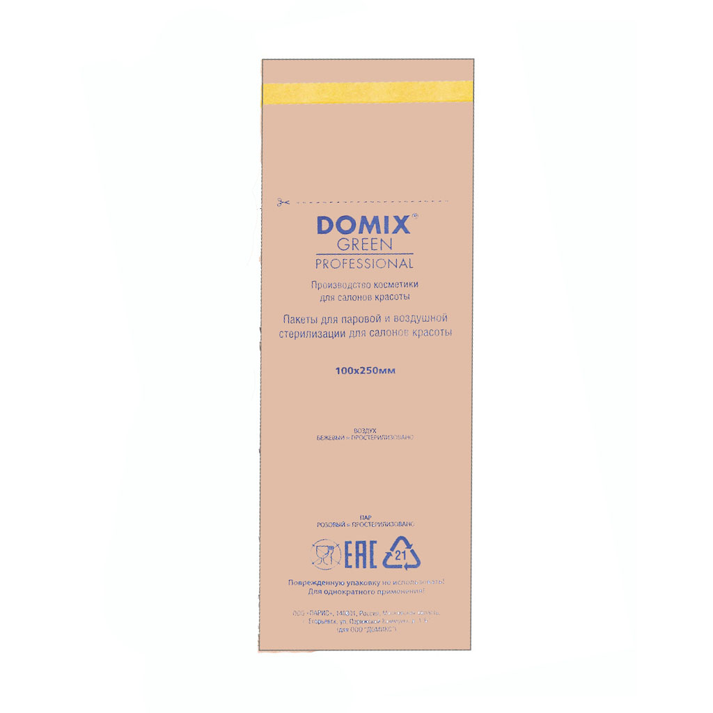 Domix, Крафт-пакеты для стерилизации коричневые, 100х250 мм (100 шт.) фото
