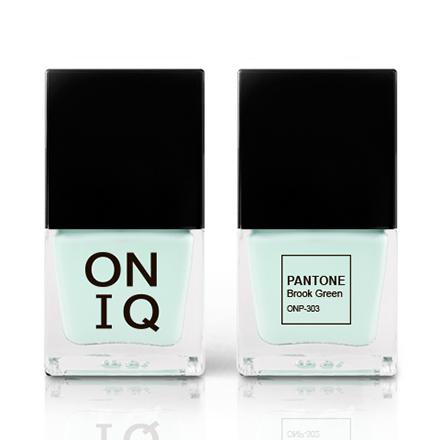 Купить ONIQ, Лак для ногтей Pantone, Brook Green, Синий