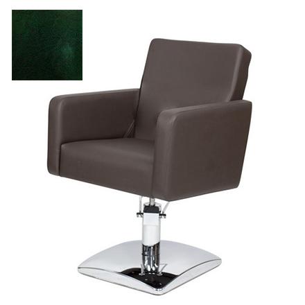 Купить Мэдисон, Кресло парикмахерское «МД-165» гидравлическое, хромированное, изумрудно-черное