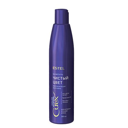 Estel, Шампунь CUREX COLOR INTENSE, 300 млШампуни для волос<br>Шампунь для мягкого тонирования холодных оттенков блонд. Добавляет светлым волосам серебристый оттенок и нежно очищает волосы.<br><br>Объем мл: 300.00