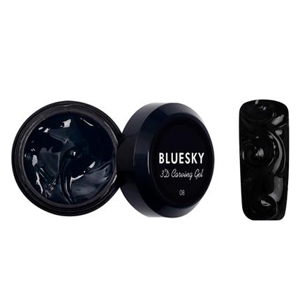 Купить Bluesky, Гель-паста Carving gel 3D №08, черная