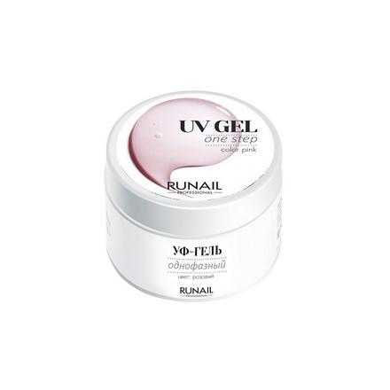 ruNail, Однофазный UV-гель, розовый, 30 г runail однофазный uv гель прозрачный 15 г