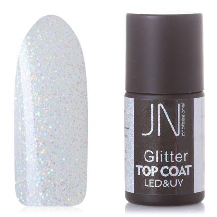 Фото - JessNail, Топ без липкого слоя Glitter №09, 10 мл jessnail пылесос для маникюра jn 001 белый