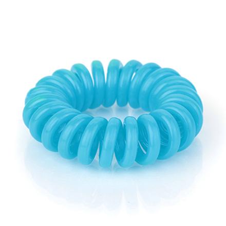 Резинка для волос силиконовая, голубая
