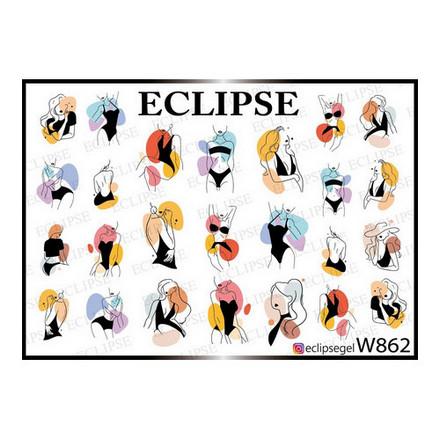 Eclipse, Слайдер-дизайн для ногтей W №862  - Купить