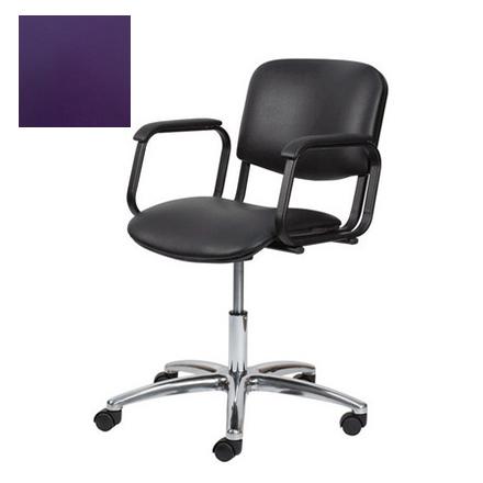 Купить Мэдисон, Кресло парикмахерское «Контакт» пневматическое, хромированное, фиолетовое