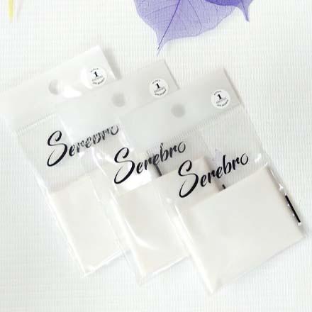 Serebro, Фольга для дизайна ногтей №01, белая матовая  - Купить