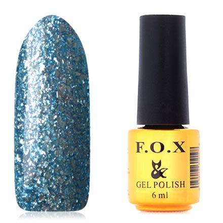 FOX, Гель-лак Brilliance №019F.O.X<br>Гель-лак (6 мл) насыщенный синий, с серебряной фольгой, плотный.<br><br>Цвет: Синий<br>Объем мл: 6.00