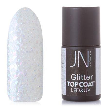 Фото - JessNail, Топ без липкого слоя Glitter №08, 10 мл jessnail пылесос для маникюра jn 001 белый