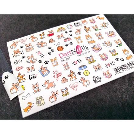 Купить DartNails, Слайдер-дизайн Art-Fashion «Собачки» №453
