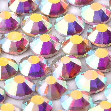KrasotkaPro, Стразы АВ голографика, 3 ммСтразы для ногтей KrasotkaPro<br>Стразы для создания сияющего маникюра, 50 шт.<br>