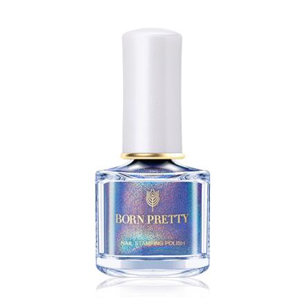Купить Born Pretty, Лак для стемпинга Illusion №04, Голубой