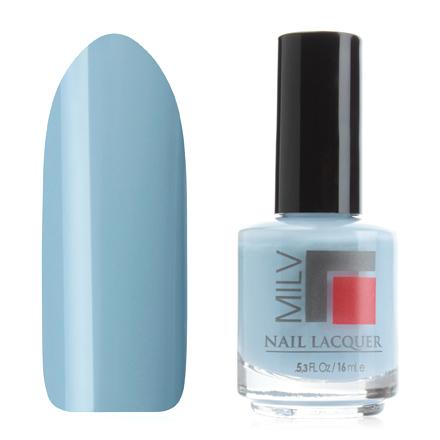 Milv, Лак для ногтей № 10Milv<br>Лак для ногтей (16 мл), небесно-голубой, без блесток и перламутра, плотный<br><br>Цвет: Синий<br>Объем мл: 16.00