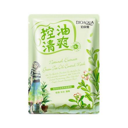 Bioaqua, Тканевая маска Natural Extract Green Tea Oil, 30 г фото