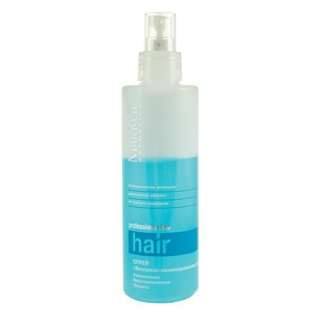 Markell, Спрей Экспресс-ламинирование волос «Professional», Увлажнение и защита, 200 мл