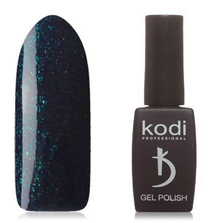 Kodi, Гель-лак №100AQKodi Professional<br>Гель-лак (12 мл) темно-синий, с изумрудными микроблестками, плотный. Прошлая серия: №146.