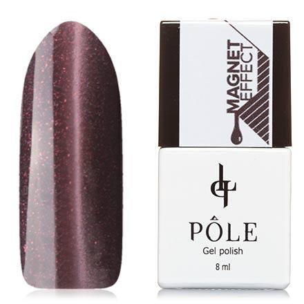 POLE, Гель-лак №44, БразилинPOLE<br>Магнитный гель-лак (8 мл) шоколадный, с бежевыми и бронзовыми микроблестками, плотный.<br><br>Цвет: Коричневый<br>Объем мл: 8.00