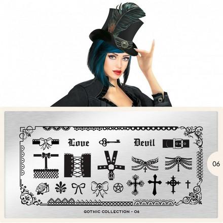 MoYou-London, Плитка для стемпинга Gothic 06 стемпинг нейл арт в киеве