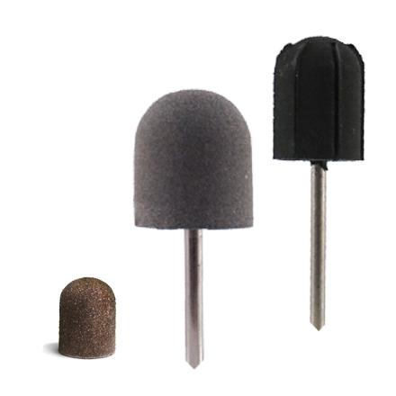 Planet Nails, Набор фрез для педикюра №1Насадки<br>В набор входит 1 насадка 13 мм, 5 колпачков 180 грит и насадка-полировщик 15 мм.<br>
