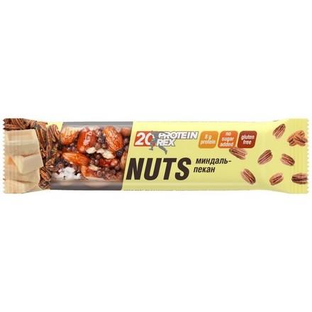 ProteinRex, Протеиновый ореховый батончик «Миндаль и пекан», 40 г