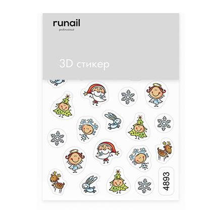 Купить RuNail, 3D-стикер №4893