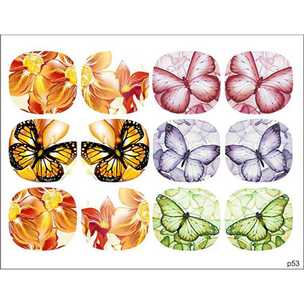 Купить BPW.Style, Слайдер-дизайн «Бабочки» №p53, для педикюра