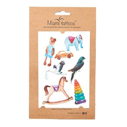 Miami Tattoos, Переводные татуировки Toys/Watercolor miami tattoos комплект переводных татуировок new romance