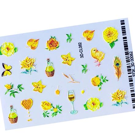 AnnaTkacheva,3D-стикерCL№062 «Цветы. Лето» фото