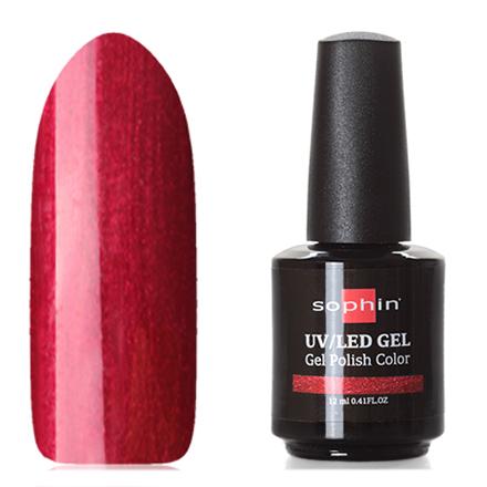 Sophin, Гель-лак №0714, Moulin RougeSophin<br>Гель-лак (12 мл) рубиновый, с перламутром, плотный.<br><br>Цвет: Красный<br>Объем мл: 12.00