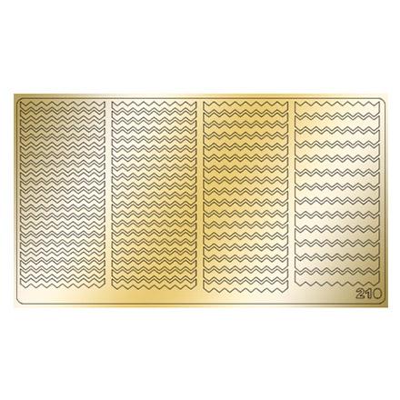 Freedecor, Металлизированные наклейки №210, золото фото