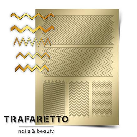 Купить Trafaretto, Металлизированные наклейки GM-06, золото