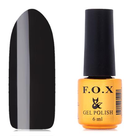 FOX, Гель-лак Waterway №002F.O.X<br>Гель-лак (6 мл) черный,  без перламутра и блесток, плотный.<br><br>Цвет: Черный<br>Объем мл: 6.00